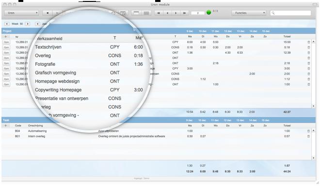 Urenregistratie software